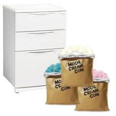 冷凍庫(引出式冷凍庫)+モチクリームアイス300個セット