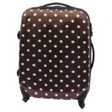 中型スーツケース(ドット柄:TSAロック付)【ブラウン】 レンタル